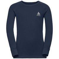 Maglia Base Layer a manica lunga ACTIVE WARM KIDS per bambini, diving navy, large