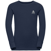 ACTIVE WARM KIDS Funktionsunterwäsche Langarm-Shirt, diving navy, large