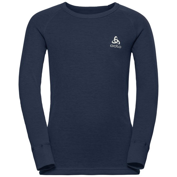 ACTIVE WARM KIDS Long-Sleeve Baselayer Top, diving navy, large