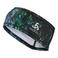 POLYKNIT LIGHT Headband, energy blue multicolour AOP FW19, large