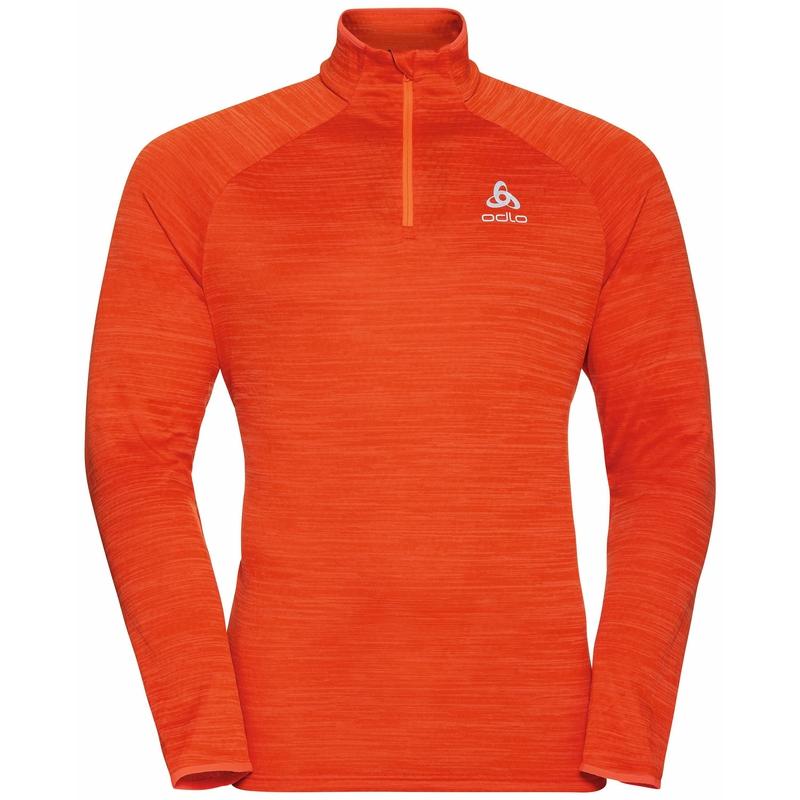 Men's MILLENNIUM ELEMENT Half-Zip Long-Sleeve Mid Layer Top, pureed pumpkin melange, large