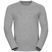 Men's Matti Long-Sleeve Base Layer Top, grey melange, large
