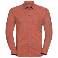Herren NIKKO CHECK Hemd, mandarin red - china blue - check, large