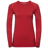 Women's NATURAL + KINSHIP WARM Long-Sleeve Base Layer Top, baked apple melange, large