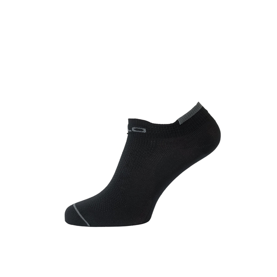 CERAMICOOL LOW CUT kurze Socken, black - odlo steel grey, large