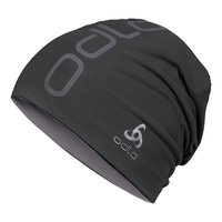 Unisex Reversible Beanie Hat, black - odlo steel grey, large