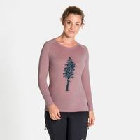ALLIANCE-top met lange mouwen voor dames, woodrose - pine print, large