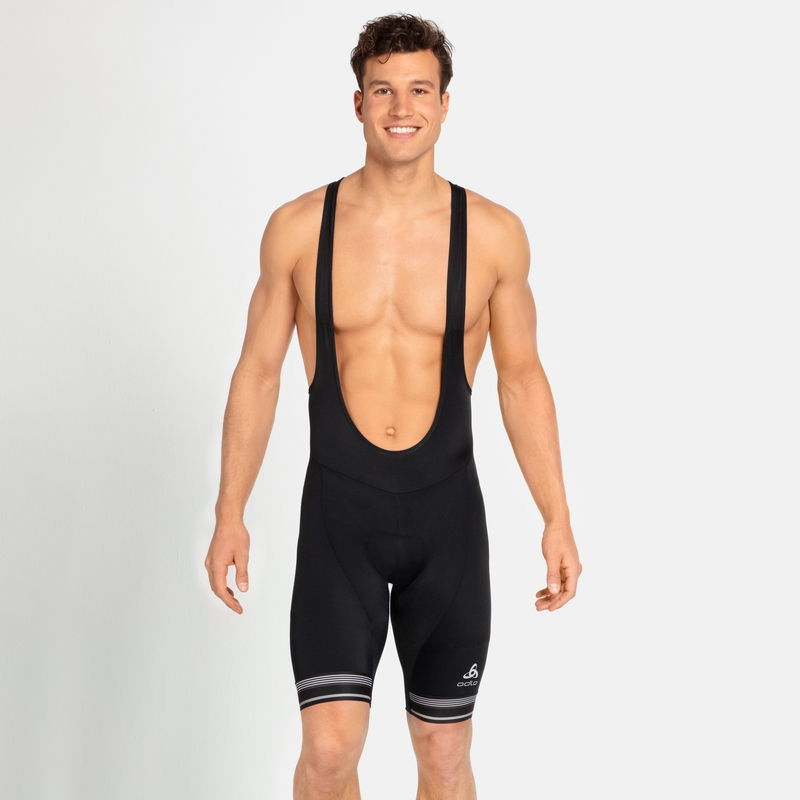 Men's ZEROWEIGHT DUAL DRY Cycling Bib Shorts, black, large