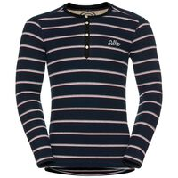 Shirt l/s crew neck IVAR WARM, navy new stripes, large