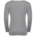 BL TOP HELLE langärmeliges Oberteil mit Rundhalsausschnitt, grey melange with TRAIN print FW17, large