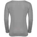 T-shirt l/s HELLE, grey melange with TRAIN print FW17, large