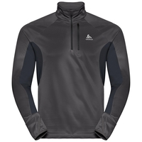 Pull 1/2 zip homme BLAZE ZEROWEIGHT, black - odlo graphite grey - stripes, large