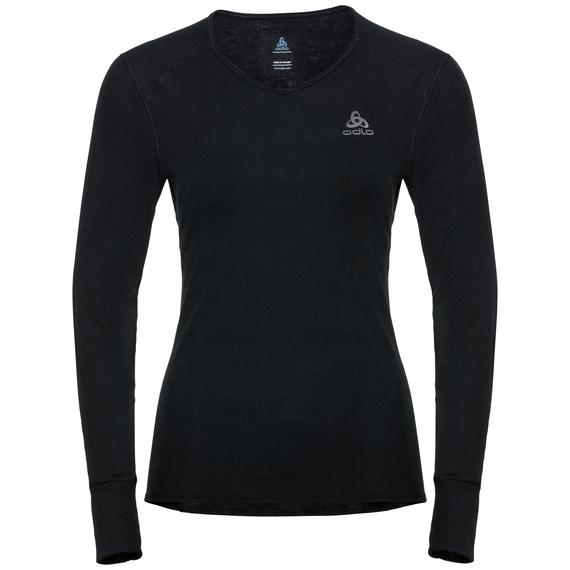 Damen ACTIVE WARM Funktionsunterwäsche Langarm-Shirt, black, large