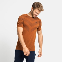 Men's KINSHIP LIGHT Base Layer T-Shirt, marmalade melange, large