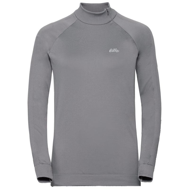 Women's HELENA 1/2 Zip Mid Layer, odlo concrete grey, large
