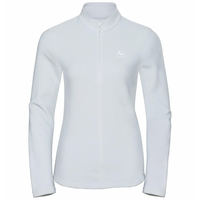 Women's ROY 1/2 Zip Midlayer, odlo silver grey - white - stripes, large