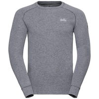 Men's Adam Long-Sleeve Base Layer Top, grey melange, large