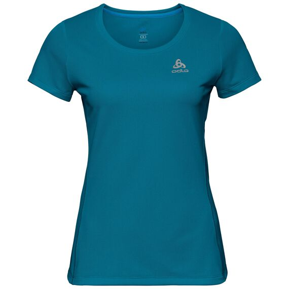 BL TOP Crew neck s/s SLIQ, crystal teal, large