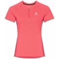 T-shirt da corsa con mezza zip AXALP TRAIL da donna, siesta, large