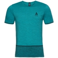 SEAMLESS KAMILERO running Shirt men, lake blue - black, large