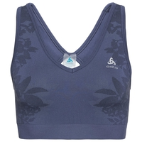 Sports Bra BLACKCOMB SEAMLESS MEDIUM, blue indigo, large