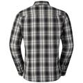 Shirt l/s LOGGER, odlo silver grey - black check, large