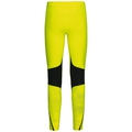 Men's ZEROWEIGHT Tights, safety yellow with print FW17, large