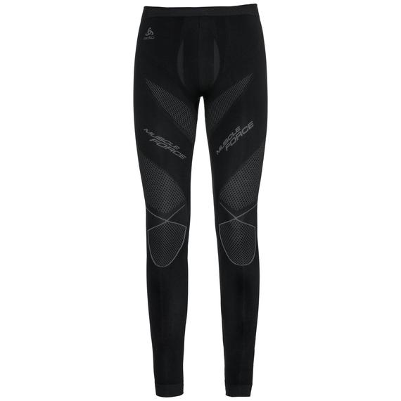 Muscle Force EVOLUTION WARM baselayer pants, black - platinum grey, large