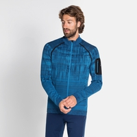 Top midlayer con zip intera BLACKCOMB da uomo, directoire blue, large