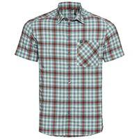 Shirt s/s NIKKO CHECK, snow white - arctic - chili oil - check, large