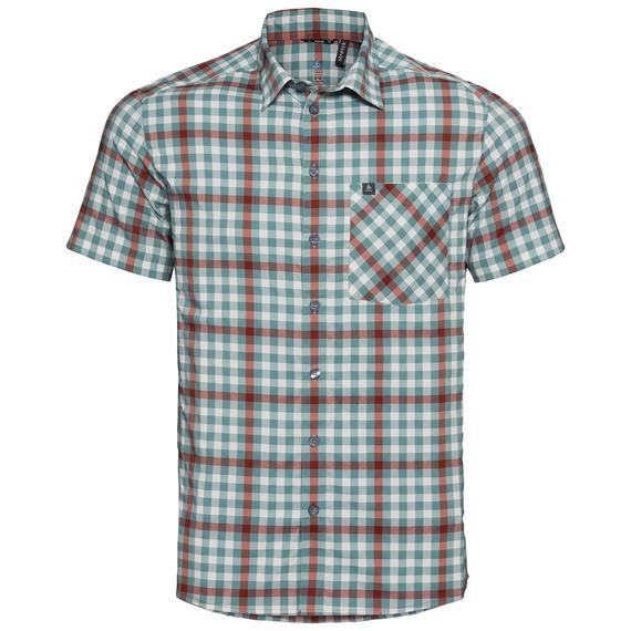 Shirt NIKKO CHECK, snow white - arctic - chili oil - check, large