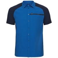 Camisa de manga corta SAIKAI COOL PRO, energy blue - diving navy, large