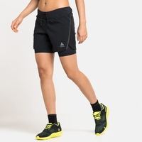 Women's AXALP TRAIL 6 INCH 2-in-1 Running Shorts, black, large