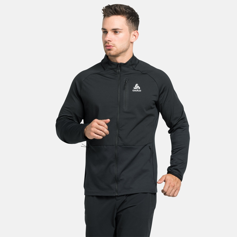 The Sesvenna SL mid layer zip, black, large