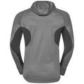 Men's BLAZE CERAMIWARM Midlayer Hoody, odlo graphite grey - odlo concrete grey - stripes, large