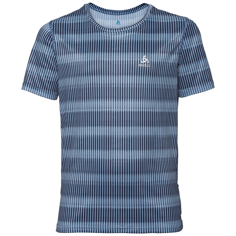 BOYS CERAMICOOL BLACKCOMB Baselayer T-Shirt, faded denim - AOP SS19, large