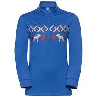 Midlayer full zip PAZOLA REINDEER, energy blue, large