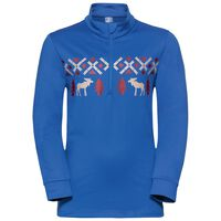 Midlayer full zip PAZOLA REINDEER, energy blue, large