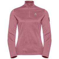 Women's PILLON 1/2 Zip Midlayer, mesa rose, large