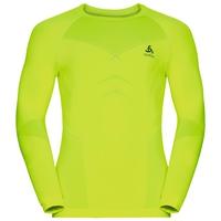 Shirt l/s crew neck EVOLUTION WARM, safety yellow - platinum grey, large