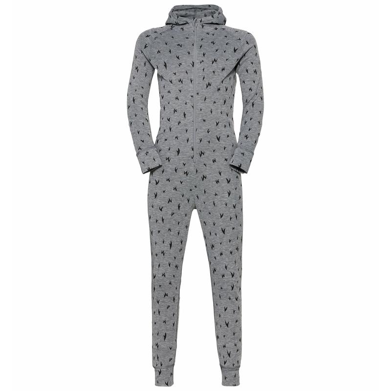 ACTIVE WARM ECO KIDS One-Piece Base Layer Suit, grey melange - graphic FW20, large