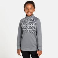 Kids' PAZOLA RIBBON Half-Zip Midlayer Top, grey melange - graphic FW20, large