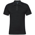 Polo s/s SAIKAI CERAMIWOOL, black, large