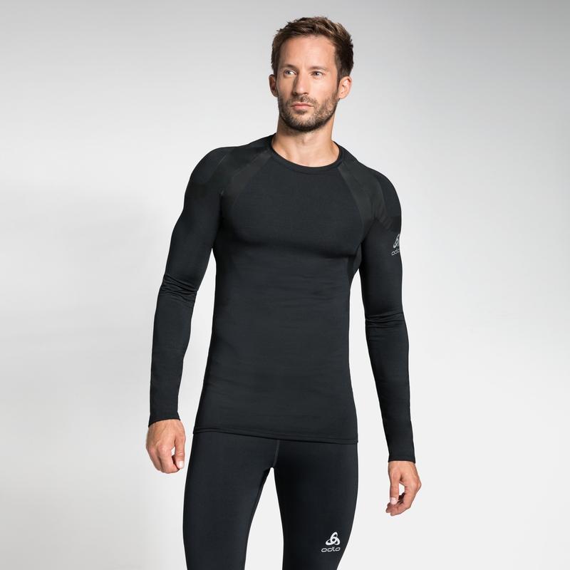 Herren ACTIVE SPINE LIGHT Base Layer Langarm-Shirt, black, large