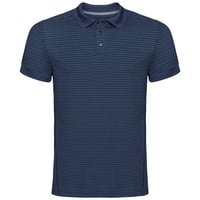 Men's NIKKO DRY Polo Shirt, diving navy - ensign blue stripes, large