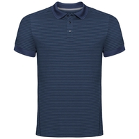 Polo k/m NIKKO DRY, diving navy - ensign blue stripes, large