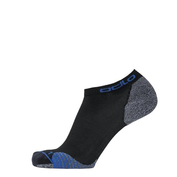 Chaussettes basses CERAMICOOL, black - nebulas blue, large