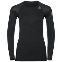 Women's ACTIVE SPINE LIGHT Long Sleeve Base Layer Top, black, large