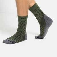 Unisex CERAMICOOL HIKE GRAPHIC Crew Socks, climbing ivy - graphic SS21, large