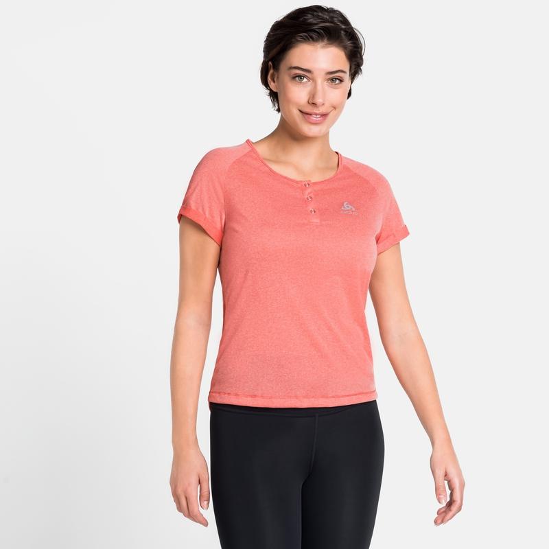 Women's ELEMENT Cycling T-Shirt, hot coral melange, large